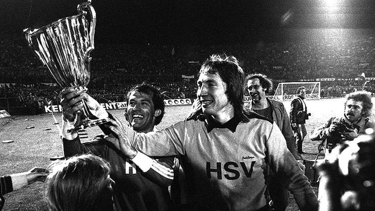 Victoire européenne avec le HSV en 1977.