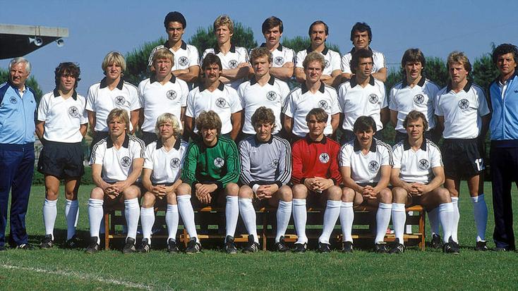 La sélection ouest-allemande : championne d'Europe.