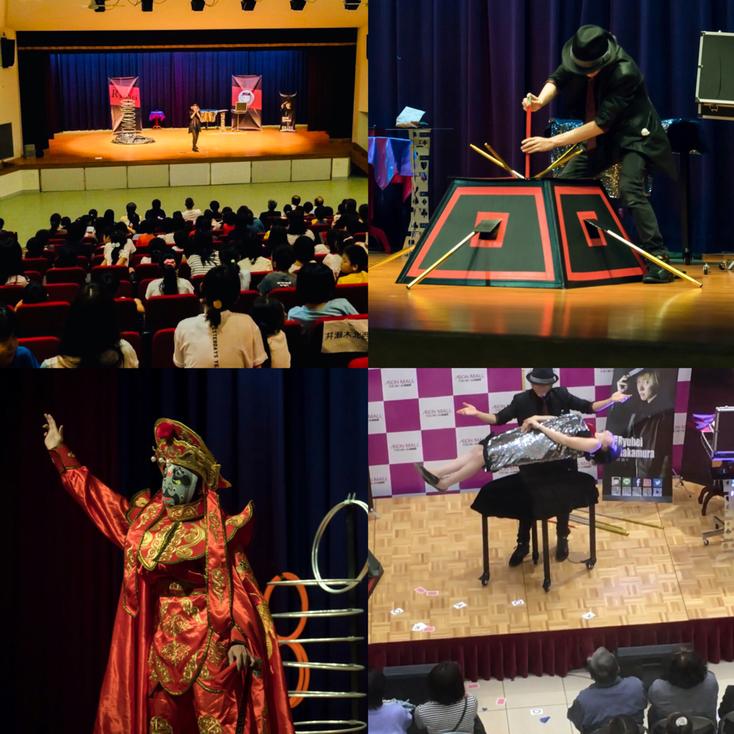 マジシャンRYUHEIの様々なステージパフォーマンス(岐阜、名古屋、愛知)