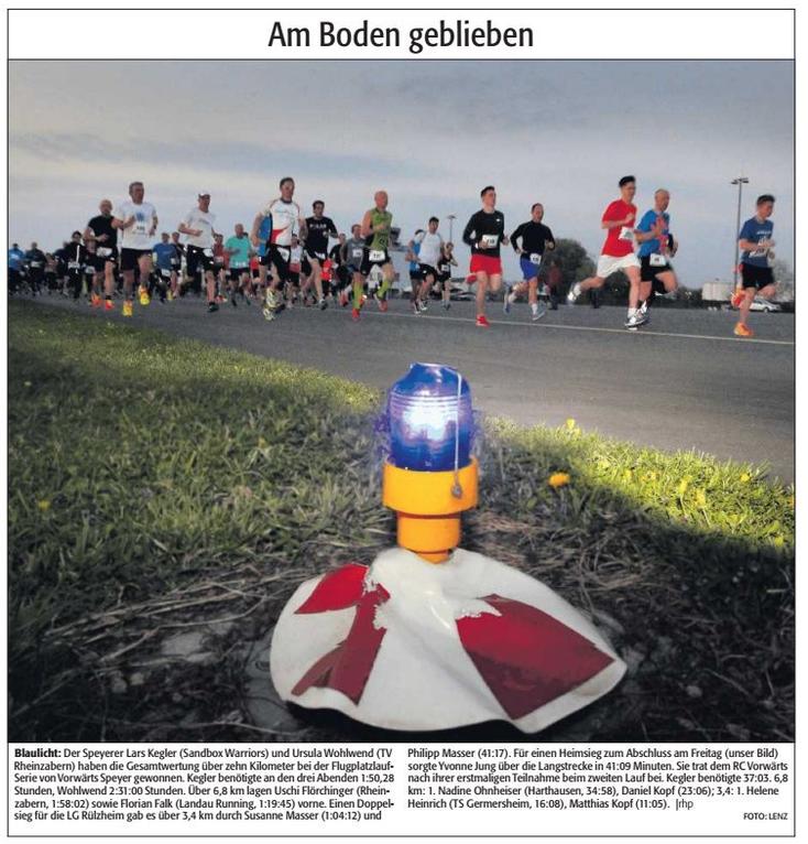 Aus der Rheinpfalz, Speyerer Ausgabe, vom 17. April 2017. Foto. Lenz
