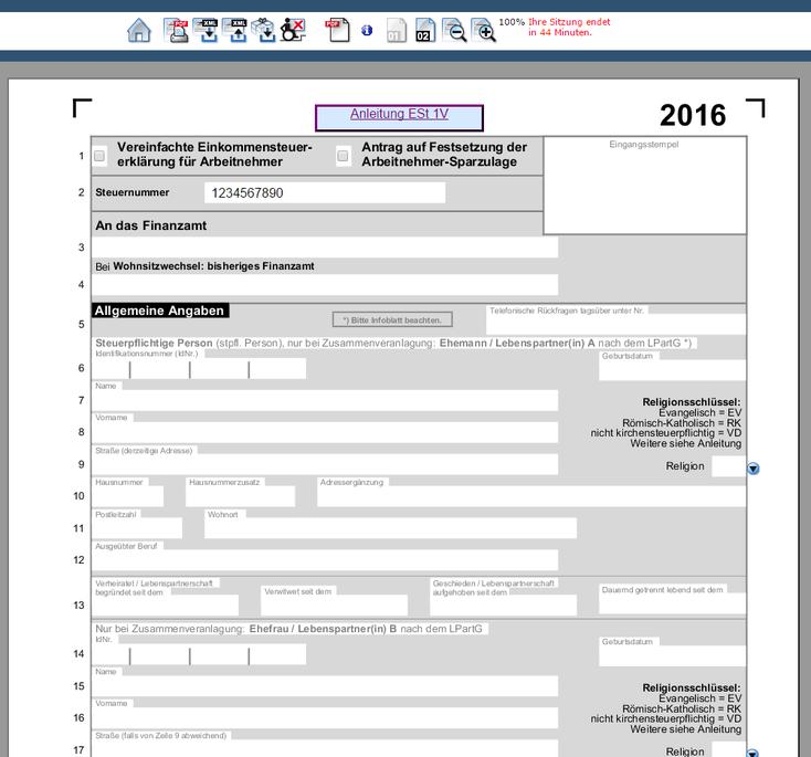 網上報稅表填寫程式,方便隨時下載和上載已經填好的部分