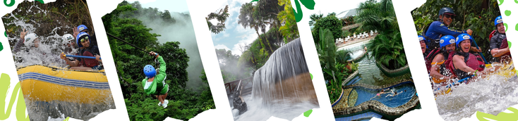 Combine the Rafting with Hot Springs like Baldi, Tabacon, Paradise or Ecotermales La Fortuna