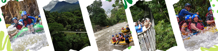 Rafting Class 2 & 3 and Hanging Bridges hike, day tour from La Fortuna and Arenal Volcano