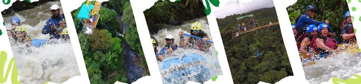 Desde La Fortuna y Volcán Arenal combine dos tour de aventura, rafting y Bungee