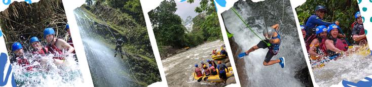 Combine Rafting y Canyoneering en un día de vacaciones en La Fortuna Volcán Arenal