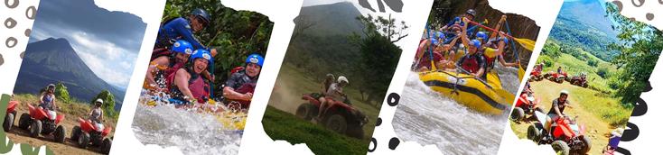 Aventura de un día en La Fortuna Volcán Arenal combo Rafting y Cuatrimotos o ATV