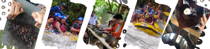 Arenal Rafting tour y tour de chocolate, vacaciones en La Fortuna Volcán Arenal Costa Rica