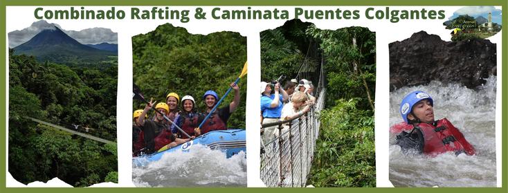 Visita a La Fortuna y Volcán Arenal, combine rafting y caminata en puentes colgantes