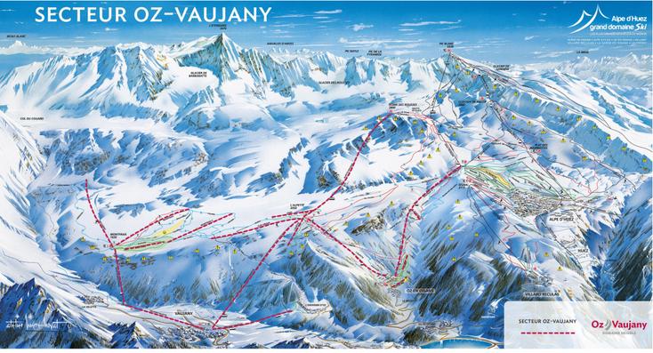 Ski, Station Oz-Vaujany, Vaujany, Grand domaine, ESF Vaujany.