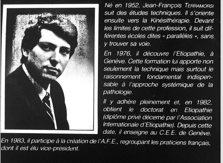 JF TERRAMORSI : Manipulations articulaires et viscérales. Edition Inter-création. 1983.
