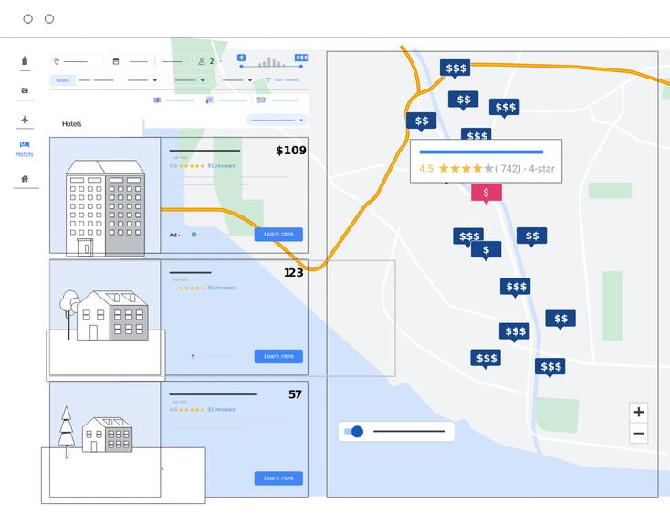 Google Travel Hotelsuche Vollansicht