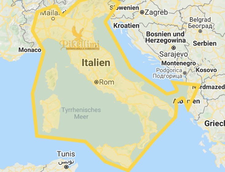 Transporti i kufomave nga Italia, Gjermania, Zvicrra, Austria, Franca, Belgjika, Norvegjia, Holanda, Suedia apo vende të tjera për në Kosovë, Maqedoni, Shqipëri, Mal i Zi,