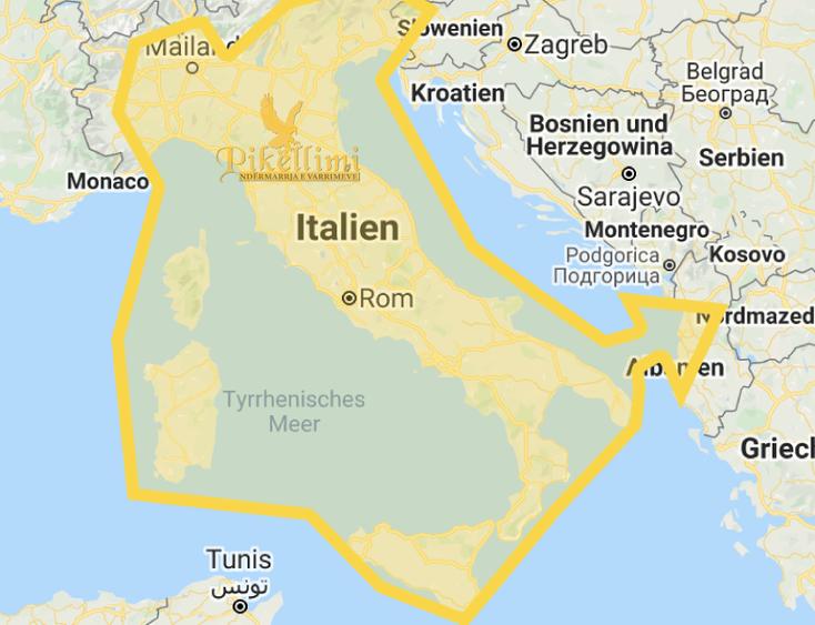 Transporti i kufomave nga Gjermania, Italia, Zvicrra, Austria, Franca, Belgjika, Norvegjia, Holanda, Suedia apo vende të tjera për në Kosovë, Maqedoni, Shqipëri, Mal i Zi,