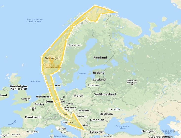 Leichentransport ausNorwegen - Kosovo, Mazedonien, Albanien, Monte Negro, Presevo Tal, Sanxhak