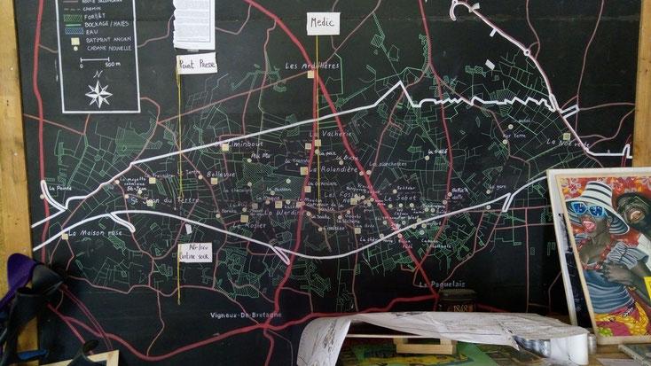 Plan - La Zad Notre-Dame-des-Landes - Mai 2018