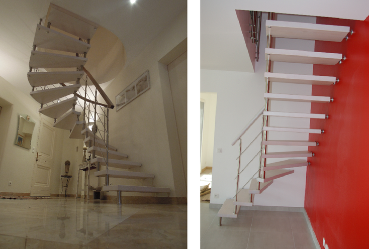 Escaliers posés par l'Entreprise Resbeut