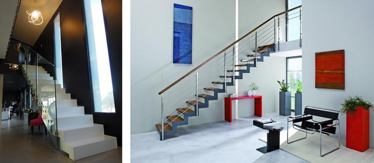 Escalier de gauche posé par l'Entreprise Resbeut