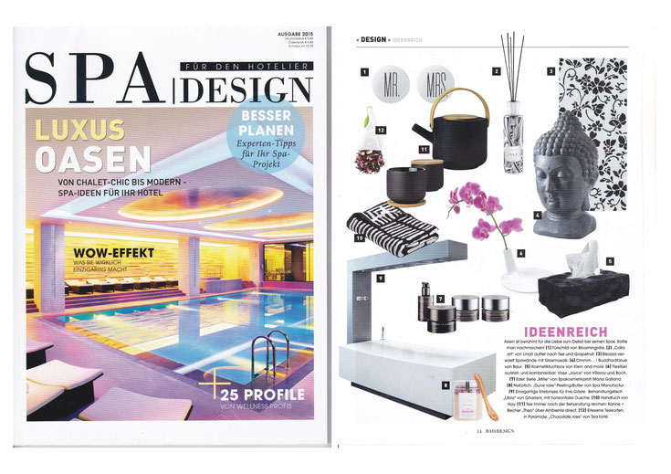 SPA DESIGN JANUAR 2015 I DETOX Peeling & BathButter DUNE ROSE COLLECTION