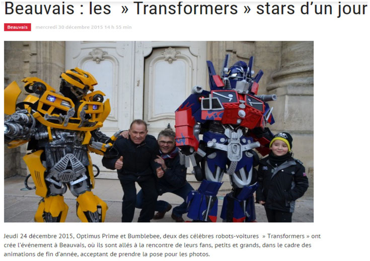 transformers performer animation de rue déambulation