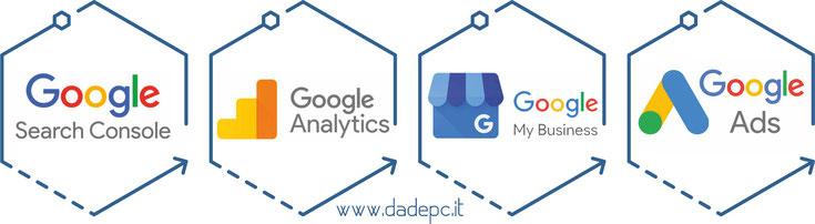 DADEpc Bolzano creazione siti internet.website. grafica .comunicazione.google certificazioni