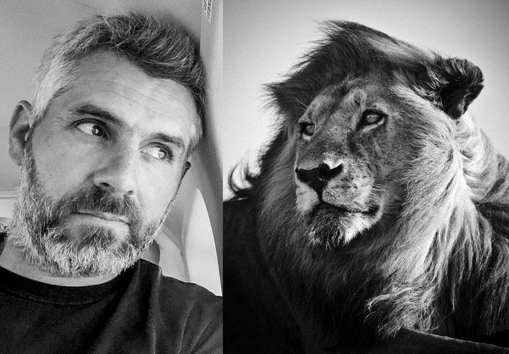 Laurent baheux photographe animalier antispeciste noir et blanc