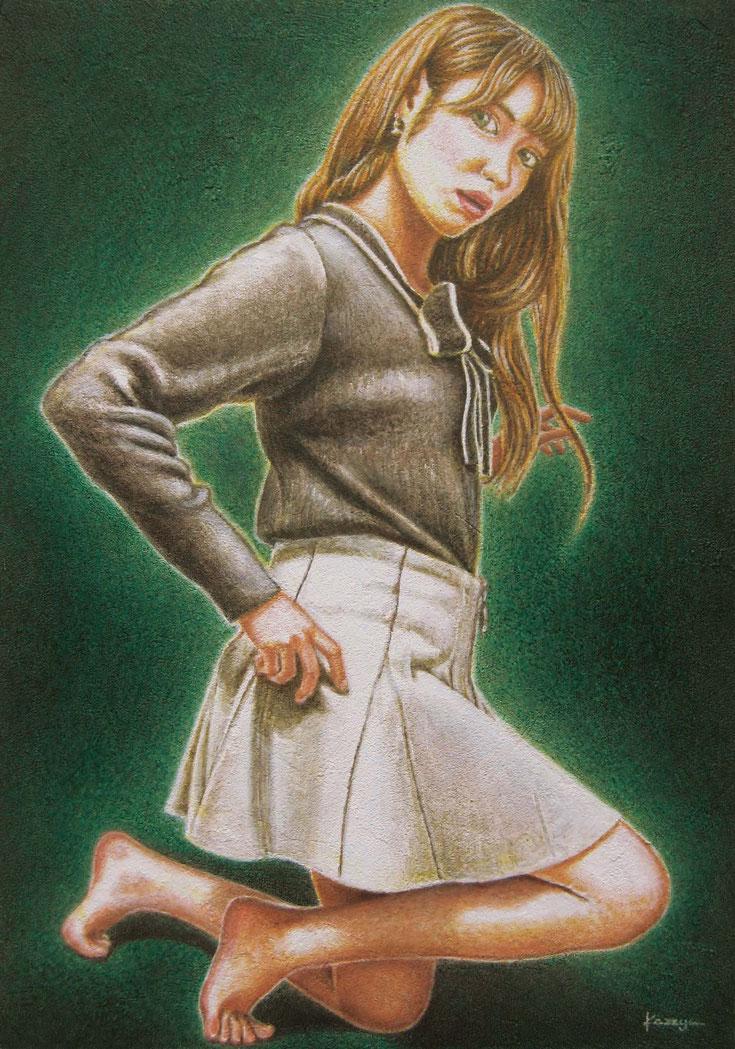 イラストレーション「第217回 ザ・チョイス」応募作品 《 signal 〜model:mil(ミル)〜 》  新作/B4/10月2-12日/44h