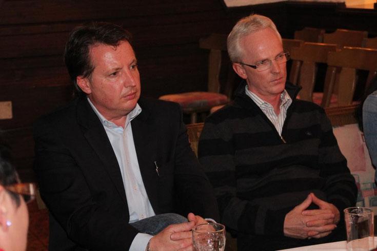 links: Bm Ewald Tschabitscher - rechts: Kassier Michael Trampitsch