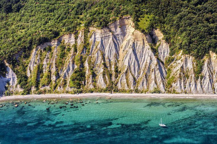 Panorama: Bele Skale Strand, Luftaufnahme