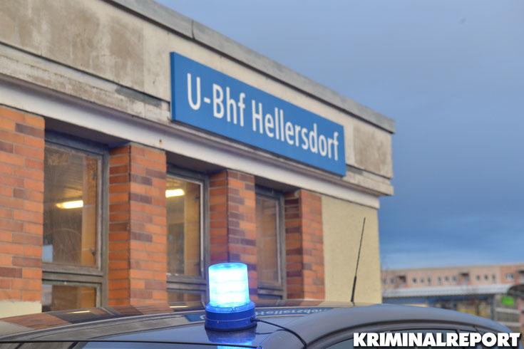 Polizei vor dem U Bahnhof Hellersdorf.|Foto: Symbolbild /Dennis Brätsch