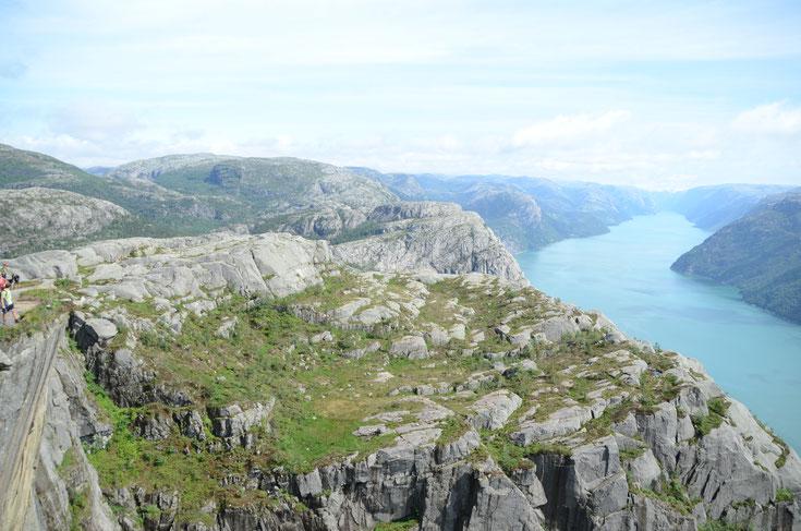 Aussicht Prejkestolen über den Lysefjord