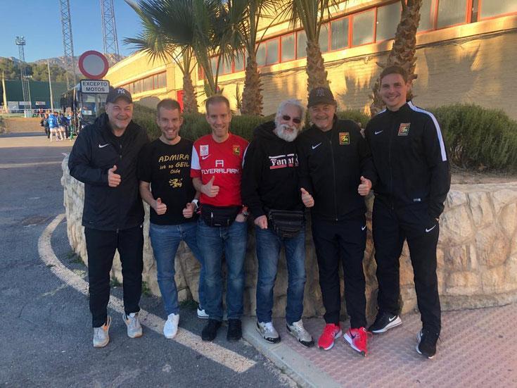 Besuch von Südstadt Fanatics in Spanien beim Trainingslager von Admira Wacker