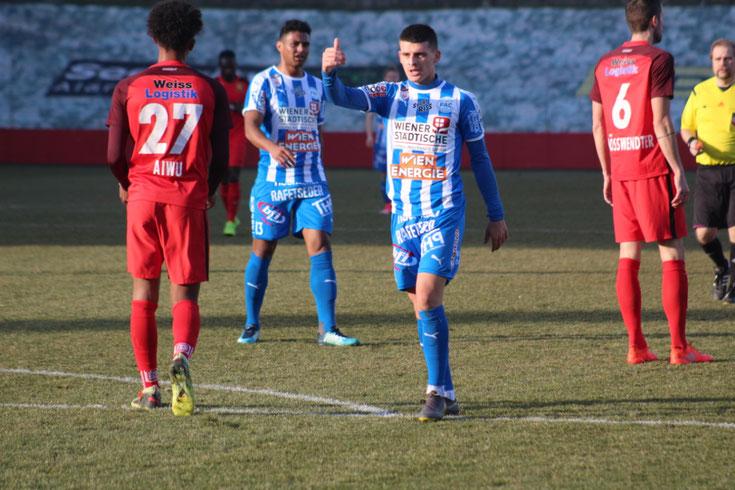 Admira Wacker gewinnt das letzte Vorbereitungsspiel auf die Frühjahrssaison gegen den FAC 2 zu 0