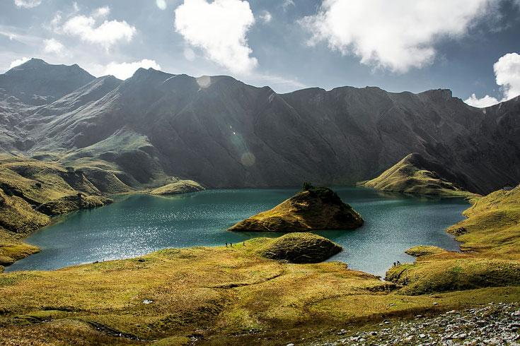 Schrecksee in Hinterstein, einer der schönsten Bergseen Europas; Foto Nicolai Schneider