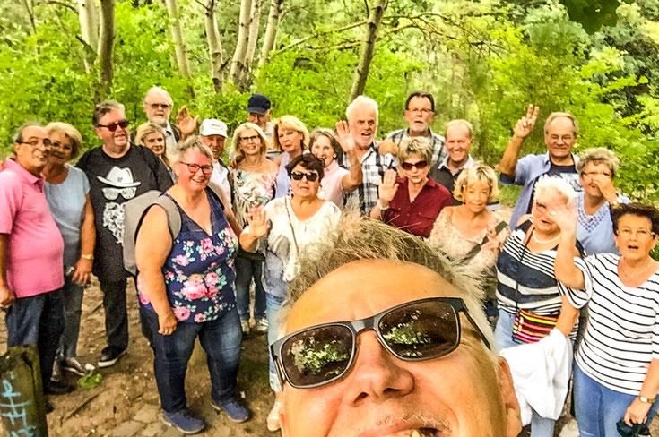 ... rund um die Steinbrüche Dietesheim, im kleinen Kreise im August 2019 (siehe auch Galerie-Fanclubfotos)