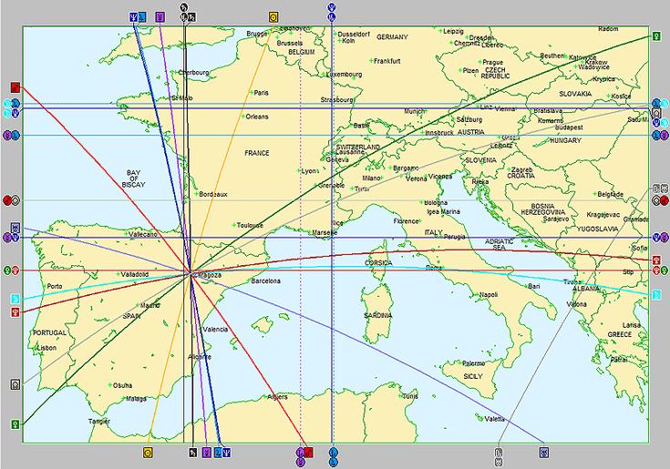 Astrocartografía del mapa natal
