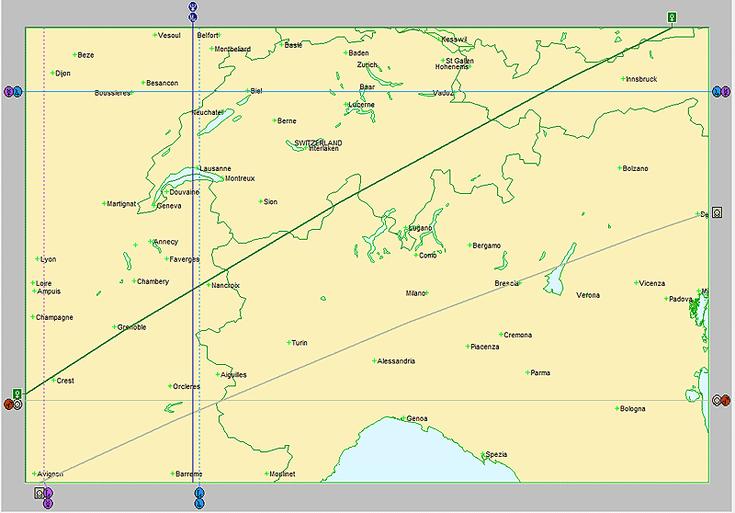 Astrocartografía en Alpes europeos