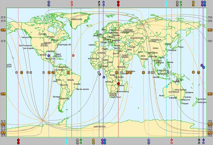 Astrocartografía en planisferio terrestre