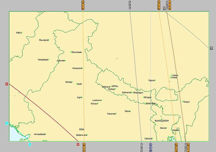 Astrocartografía en norte de India