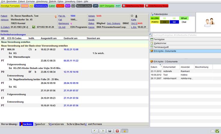 Heilmittelverordnung HMV Praxissoftware Arztsoftware Software für Ärzte Heilmittel Verordnungen