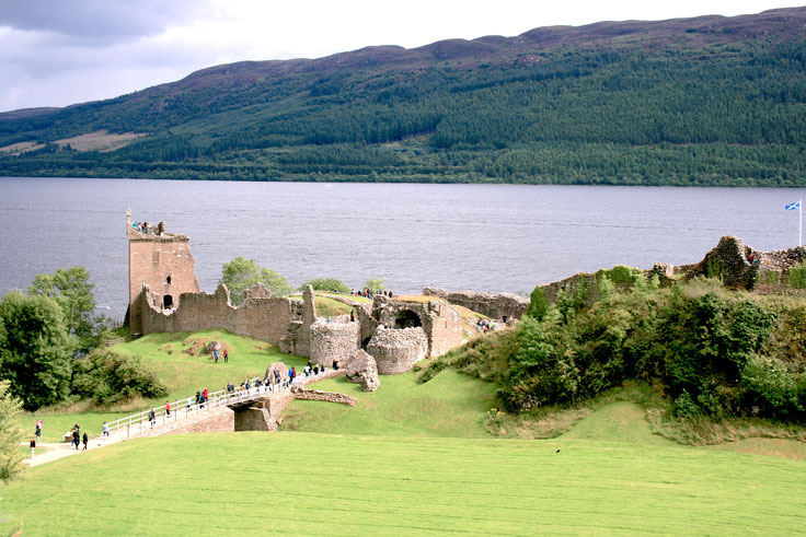 Scotland UK ofpenguinsandelephants of penguins & elephants Urquhart Castle Loch Ness