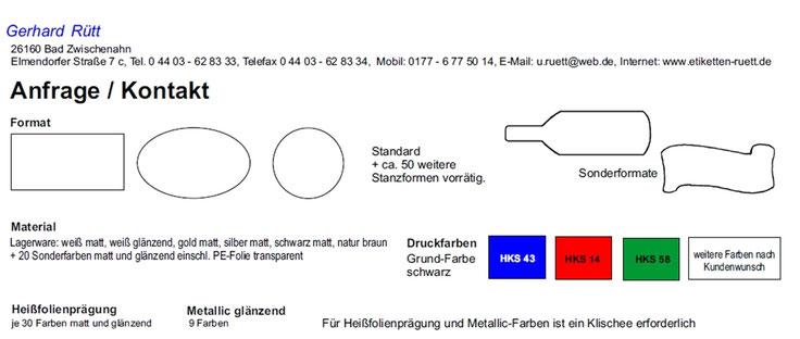kontakt - etiketten-manufaktur g. rütt bad zwischenahn, Hause ideen