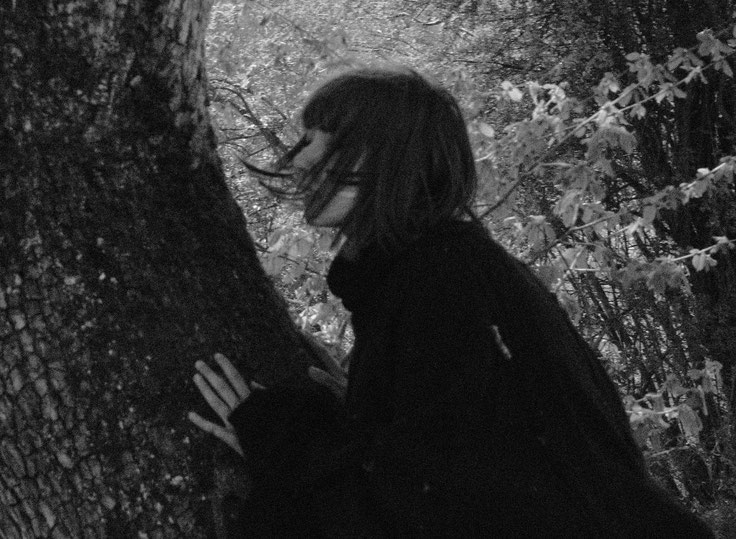laura deberle photography forest wander wild explore forest female wanderer dark