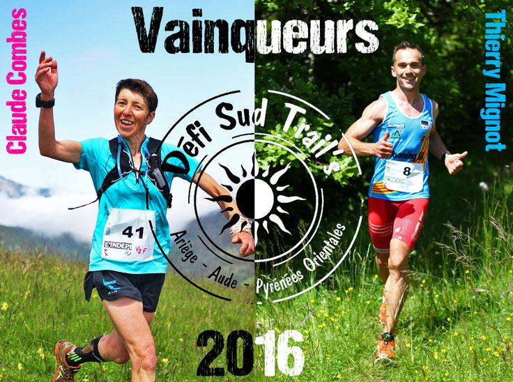 Claude Combes et Thierry Mignot, vainqueurs du Défi Sud Trail's 2016