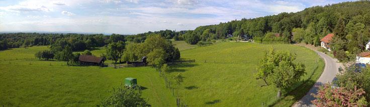 "Blick über das Landschaftsschutzgebiet ""Winkler Vorbergzone"""