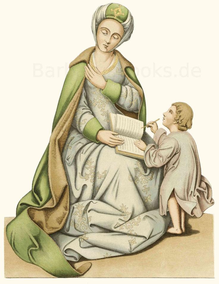 Frauentracht aus dem Ende des 15. Jahrhunderts.