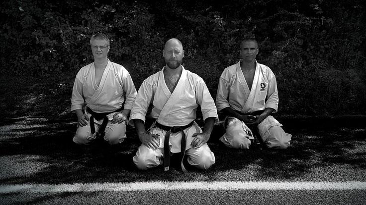 v.l.n.r.: Meister Johnny Durant, Erol Alp, Christian Liebich