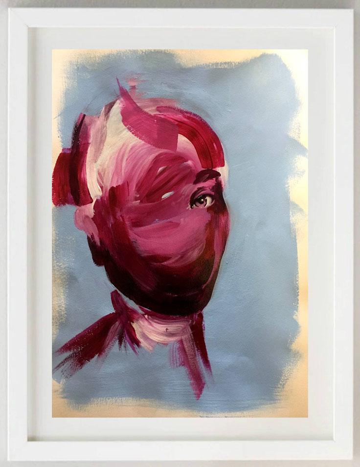 """16 / GIACOMO ANTONINI, """"Il trio Mo-Mo"""", mista collage su carta, 30 x 20 cm."""