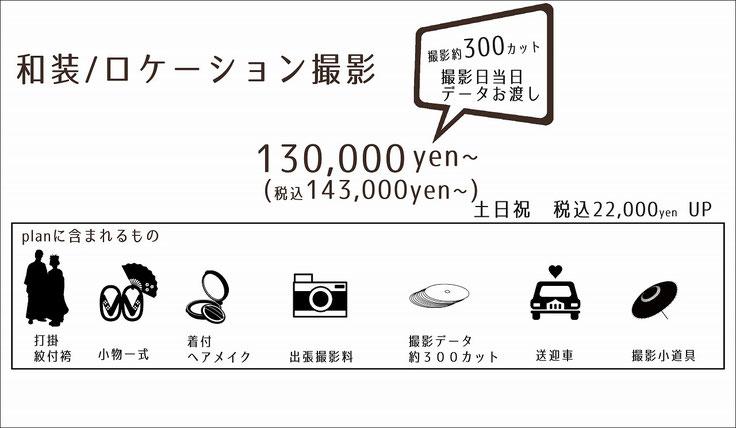 和装ロケーション撮影料金プラン紹介