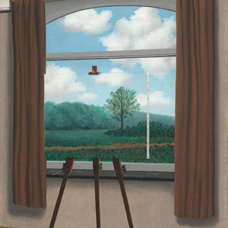 "René Magritte, ""La condizione umana"" (1933)"