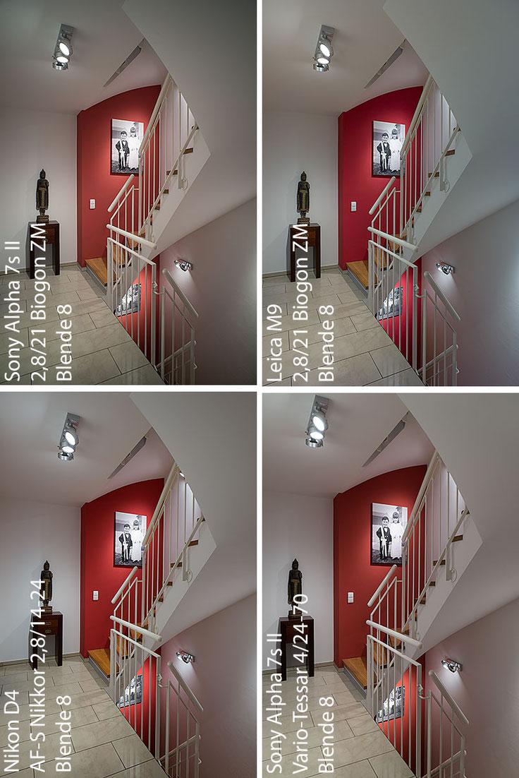 Im Test: Architektur-Foto mit SONY Alpha 7s2 mit ZEISS Biogon-M 2,8/21 mm im Vergleich. Foto: Klaus Schoerner